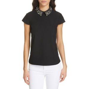 NWT Jaylen Embellished Collar Top